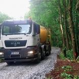 Cementopopílková suspenze pro lesní cesty