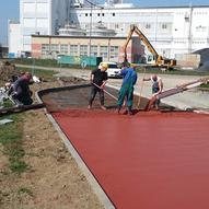 Červený beton